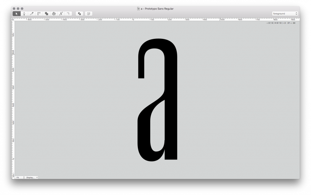 Refining my letters in Robofont