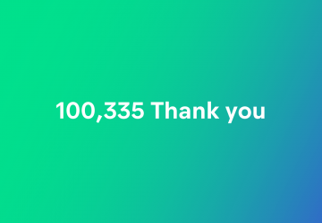 100,000 thank you for 100,000 Prototypo users
